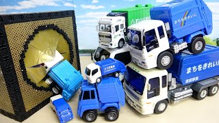 ゴミ収集車 自分の大きさにあったサイズの穴を探そう すぽすぽボックスアニメーション