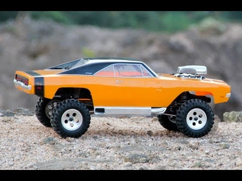 Teste SCX10 Dodge Charger R/T Offroad 4x4 Escala 1:10 - YouTube