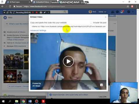 How to embed fb live video recording to your wordpress site