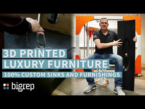 3D Printed Luxury Furniture! 100% Custom Sink and Furnishings