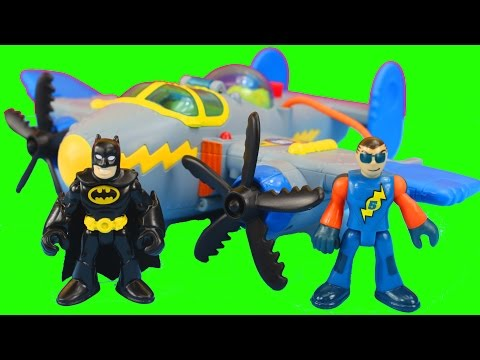 Fisher Price Imaginext Tornado Prop Plane Joker uses Magic and Batman Saves the day