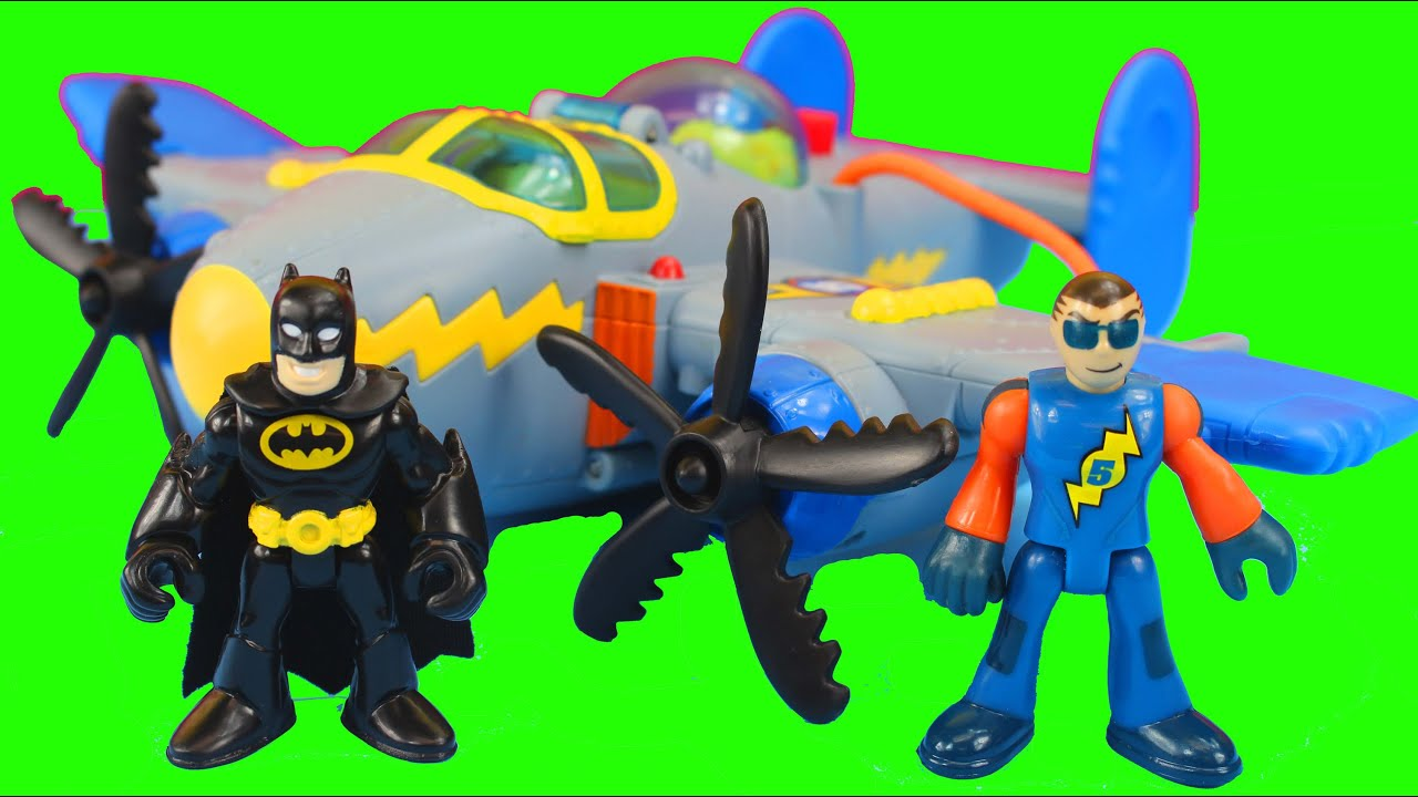 Fisher Price Imaginext Tornado Prop Plane Joker uses Magic and Batman Saves the day - YouTube