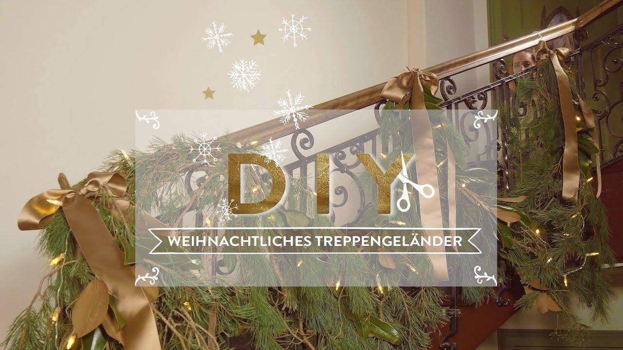 weihnachtliche treppenhaus deko westwing style tipps youtube. Black Bedroom Furniture Sets. Home Design Ideas