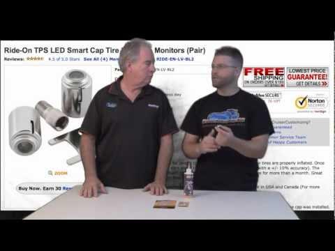 WWGe97 Ride-On LED Smartcap Smart Tire Pressure Monitoring Caps