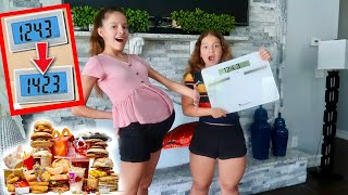WHO CAN GAIN THE MOST WEIGHT IN 10 MINUTES | SISTER FOREVER