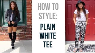How To Style: Plain White Tee Thumbnail