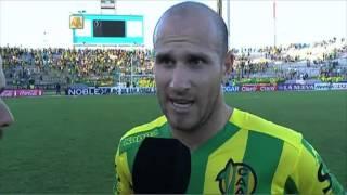 """Llama: """"Fue un resultado contundente"""". Aldosivi 3 - Olimpo 0. Fecha 1. Torneo Transición 2016."""