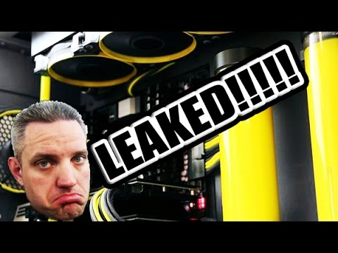 My $6500 Custom Watercooled PC LEAKED!!! Now lets fix it....