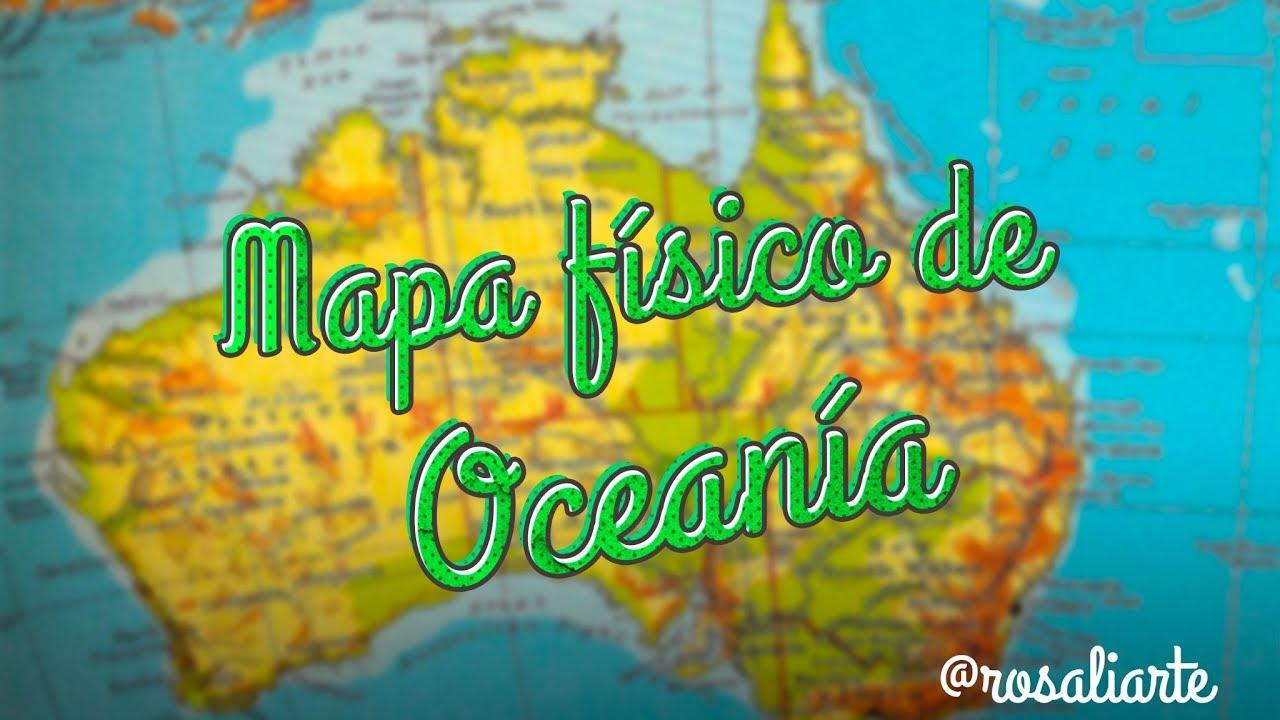 Mapa De Oceania Fisico En Español.Mapa Fisico De Oceania 1º Eso