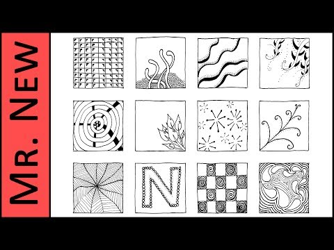 picture regarding Zentangle Patterns Step by Step Printable identify 12 Zentangle Practices - Straightforward Move via Action Zentangle Guide
