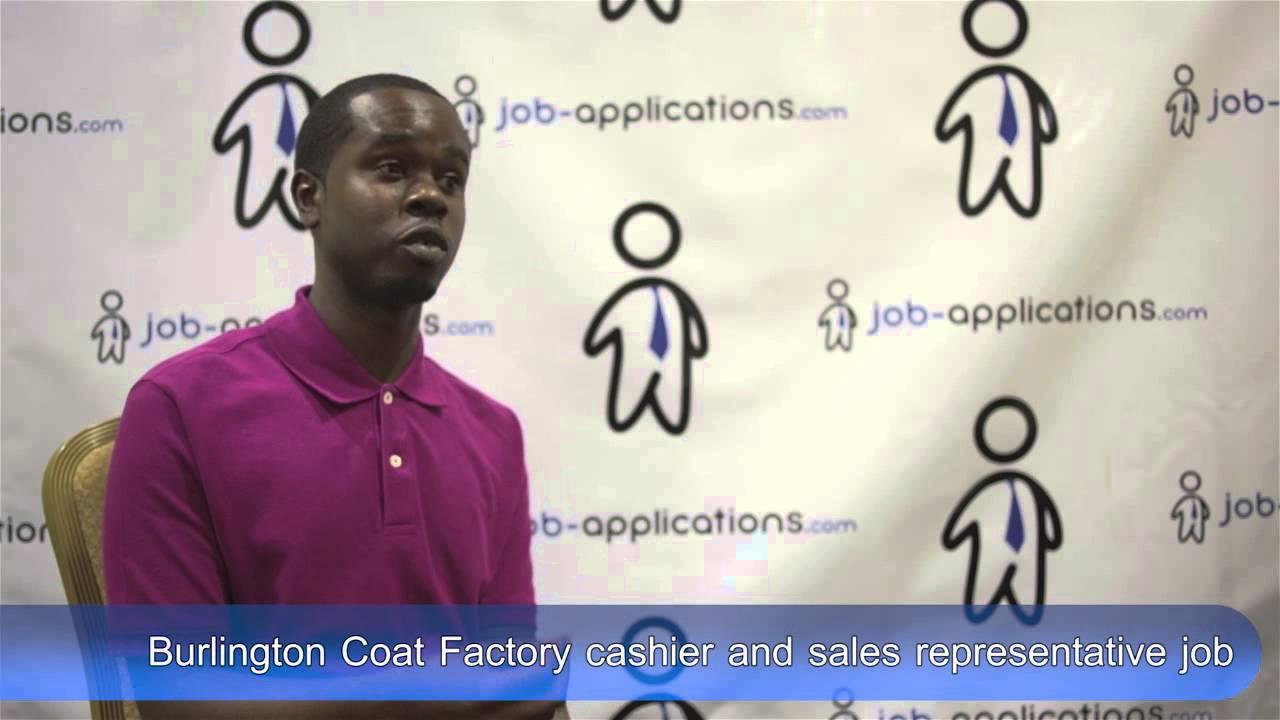 Burlington Coat Factory Interview Cashier And Sales Representative