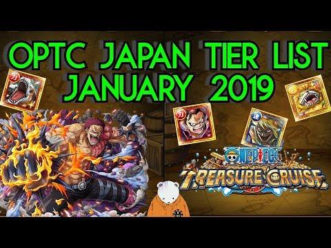 OPTC Japan Legend Tier List January 2019 | One Piece Treasure Cruise