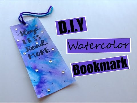 DIY Watercolor Bookmark Using Only Markers!!!
