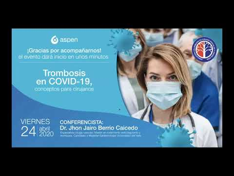 Trombosis en COVID 19 conceptos para cirujanos