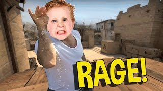 CS:GO SILVER FUNNY MOMENTS - SALTIEST CSGO KID EVER, DUMB NINJA DEFUSE (FUNNY MOMENTS)