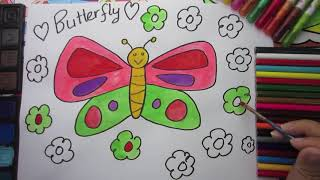 Teaching Kids to Draw How to Draw a Butterfly