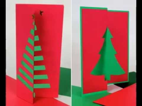 DIY Christmas cards decorating ideas - YouTube