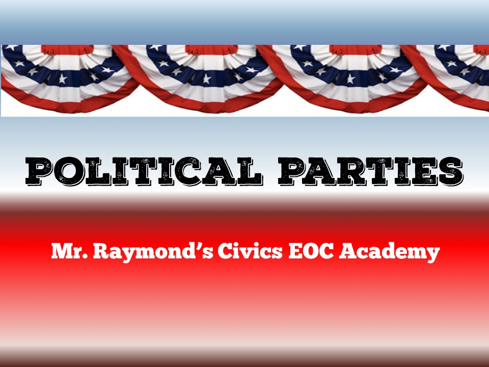 polotical parties Political parties perform an important task in government they bring people together to achieve control of the government, develop policies favorable to their.