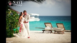 Свадьба фото. Бумажный самолет. Мальдивы 2017.
