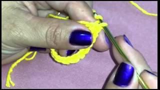 Aprendendo os primeiros passos do Crochê.