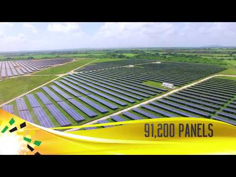 Content Solar, Jamaica's first utility-scale solar plant