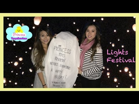 Disney Tangled in Real Life Lantern Light Festival with Princess ToysReview