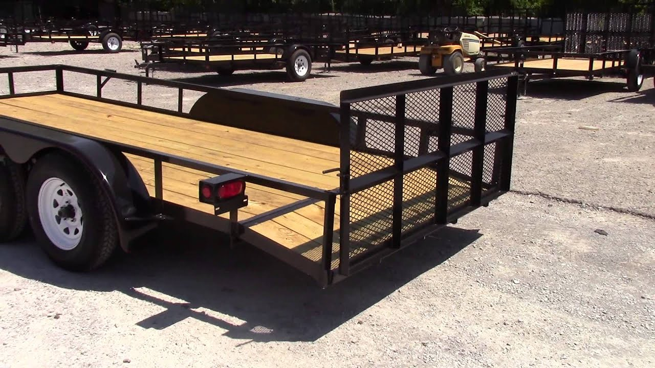 6 4 X 16 Double Axle Dovetail Utility Trailer Youtube