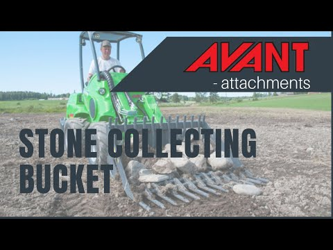 Stone Collecting Bucket, Avant attachment