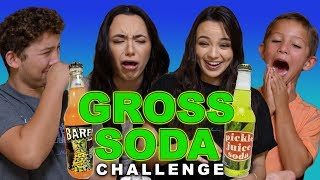 Gross Soda Challenge - Merrell Twins with Cousins