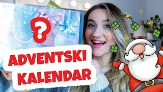 Secret Santa Adventski KALENDAR w/ Purple & Mint