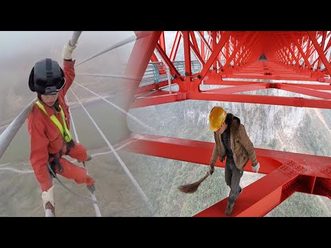 China's Most Unbelievable Power line Workers Who Surpass Their Limits