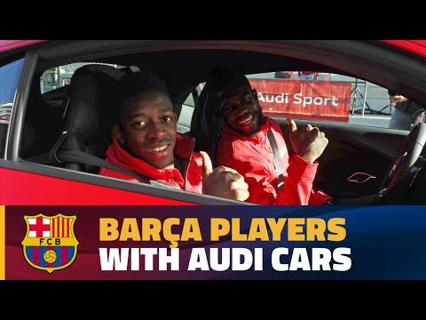 [BEHIND THE SCENES] The Barça players get their new Audi car