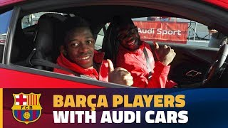 BEHIND THE SCENES The Bara players get their new Audi cars