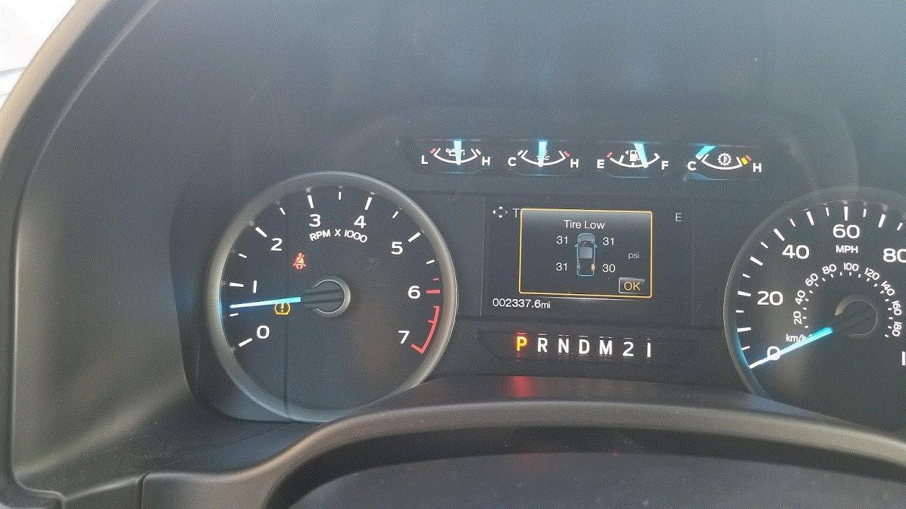 Reset Tire Pressure Sensor On Ford F 150 Youtube