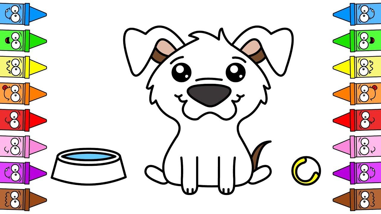 Piesek Rysowanie Psa Rysowanie I Kolorowanie Dla Dzieci Youtube