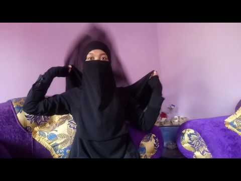 Simple khimar and niqab in 2 style with eye veil by me.