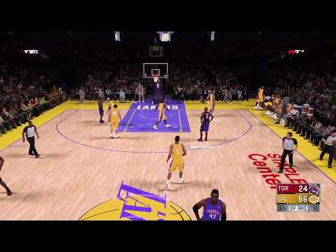 NBA 2K18 play now online - Super Lakers at Full Force vs VC and T-Mac Raptors