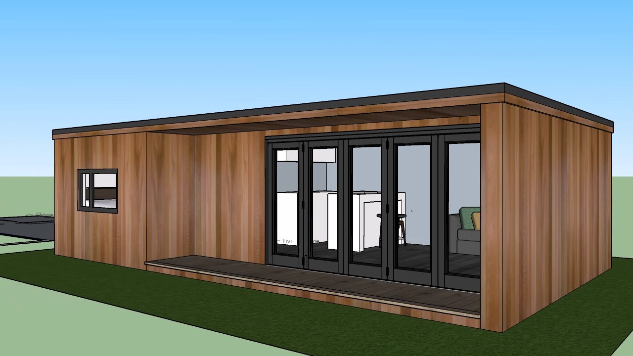 9m x 5m 'L' Shaped garden room design - YouTube on L Shaped Backyard Layout id=29291