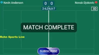 ANDERSON K. vs DJOKOVIC N. Live Now Final Wimbledon 2018 - Score