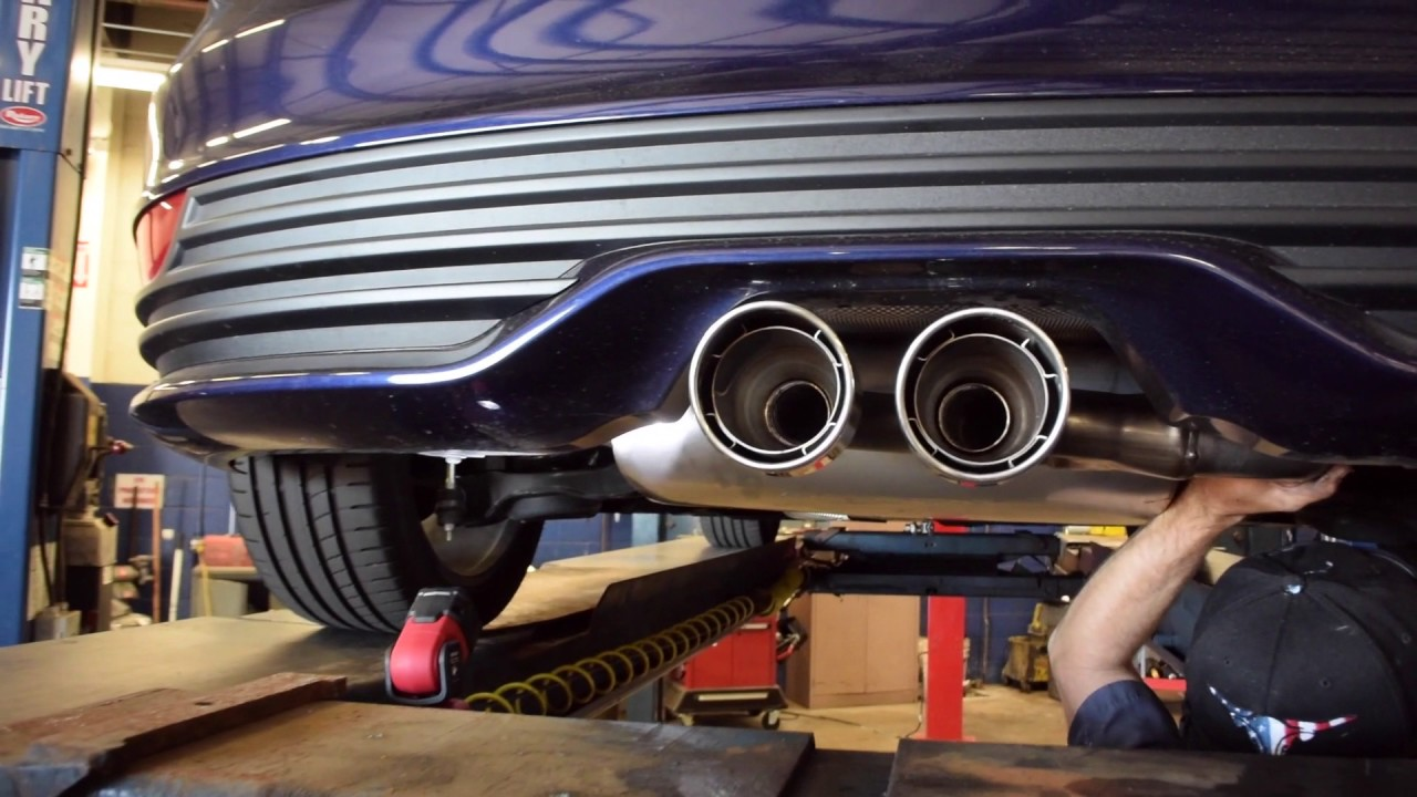 ford performance exhaust install 2016 ford focus st