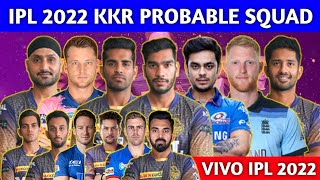 IPL 2022 - Kolkata Knight Riders Full Squad   KKR Team Probable Squad After 2022 Mega Auction