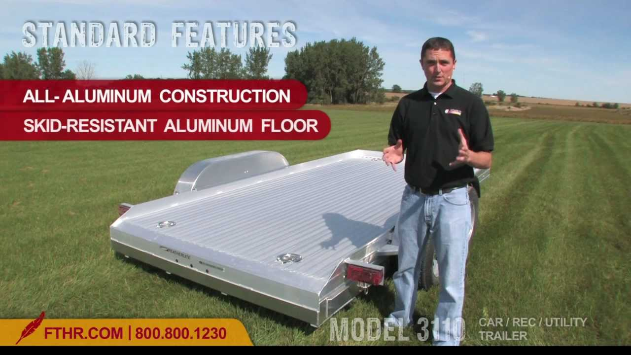 Aluminum Atv Ramps >> The Fabulous Featherlite Model 3110 Open Car Trailer, ATV ...