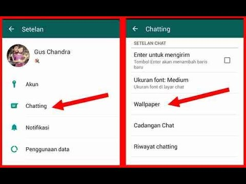 Cara Mengganti Background Atau Wallpaper Di Whatsapp Youtube