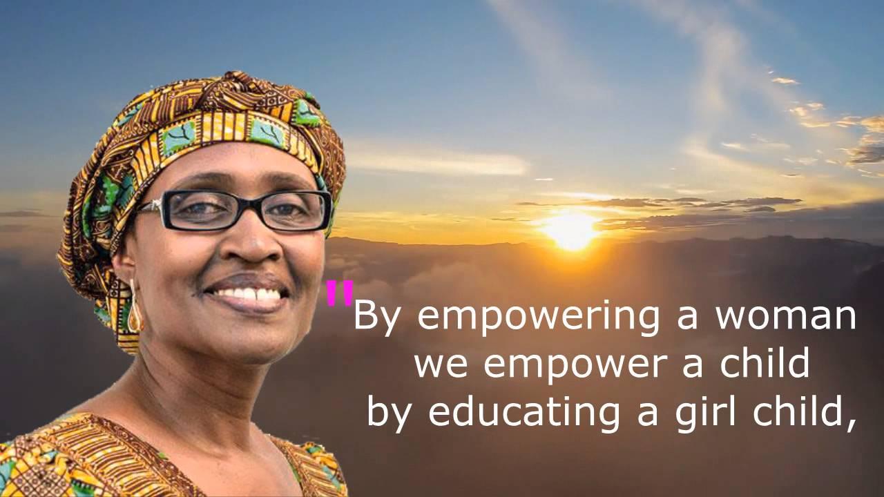 Winnie Byanyima Girl Education Quote Youtube