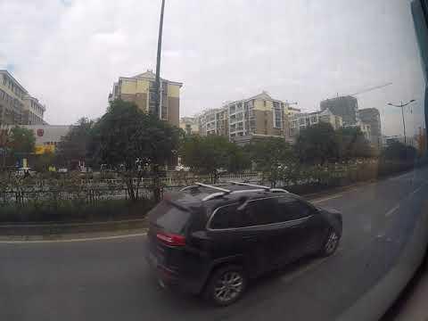 Riding the bus to work. Hangzhou, China