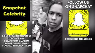 Snaps A$AP Rocky and Lil Uzi Vert street race Tyler The Creator in his BMW (Snapchat Compilation)