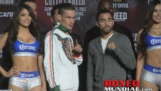 Jayson Velez and Ronny Rios  at Undercard press conference for Cotto-Canelo
