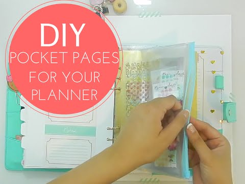How to make pocket pages for your planner with Marion Smith
