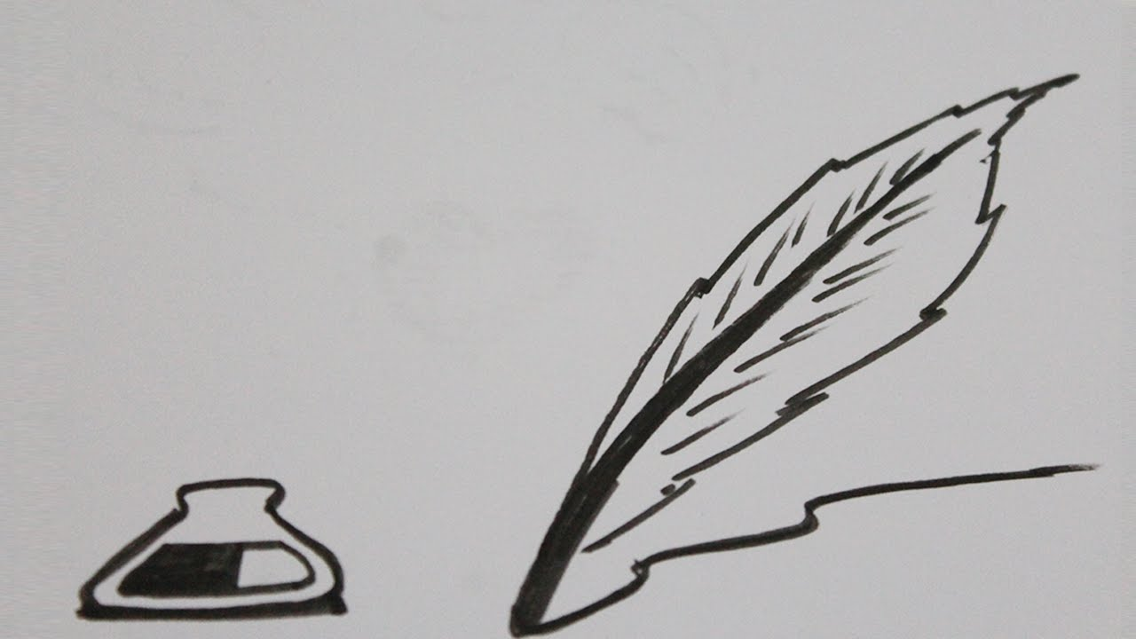 Como Dibujar Una Pluma Paso A Paso