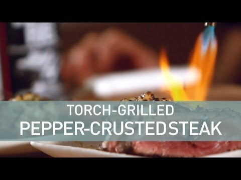 Food Deconstructed - Torch Grilled New York Strip Steak